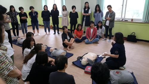 성동광진교육지원청, 광진구 주민 26명 대상 심폐소생술 실습교육 진행